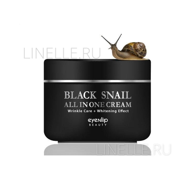 Black snail all in one cream enl [Восстанавливающий крем с черной улиткой и цветочным комплексом]
