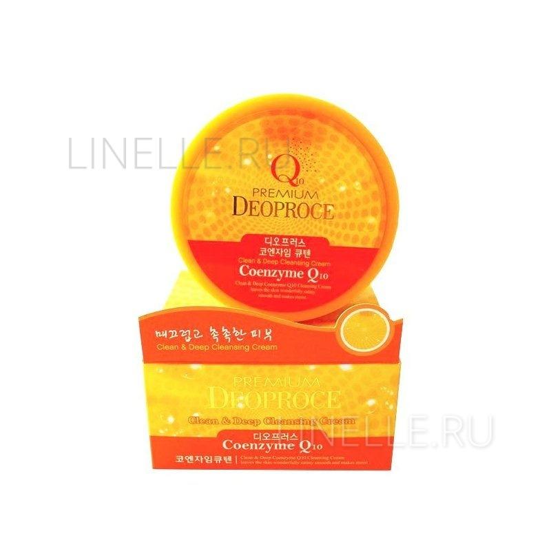 Clean & deep coenzyme q10 cleansing cream [Крем для лица очищающий с коэнзимом ]