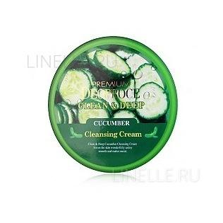 Clean & deep cucumber cleansing cream [Крем для лица очищающий с экстрактом огурца]