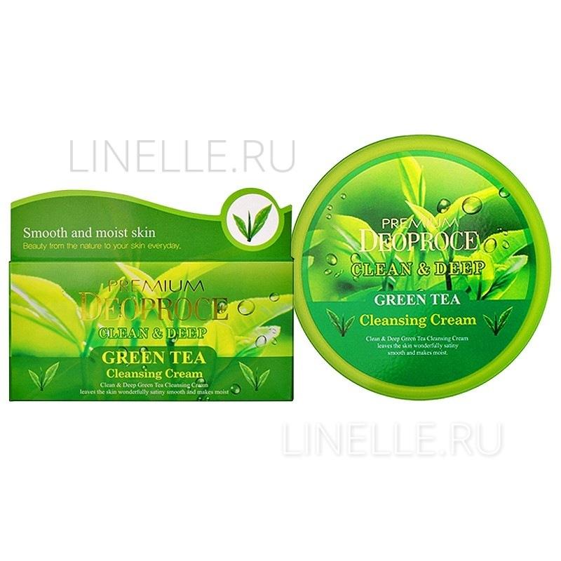 Clean & deep green tea cleansing cream [Крем для лица очищающий с экстрактом зеленого чая]