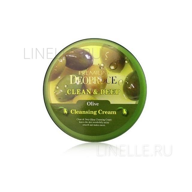 Clean & deep olive cleansing cream [Крем для лица очищающий с экстрактом оливы]