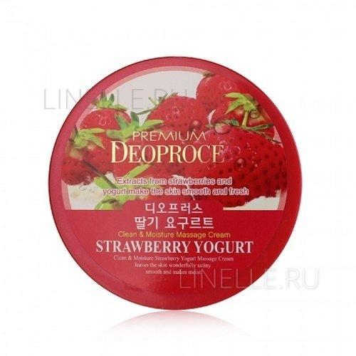 Clean & deep strawberry yogurt cleansing cream [Крем для лица очищающий с экстрактом клубники]