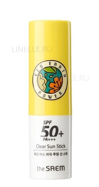 Eco earth power clear sun stick spf50  pa    [Стик солнцезащитный]