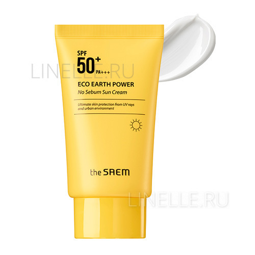 Eco earth power no sebum sun cream spf50  pa    [Крем солнцезащитный для жирной кожи лица]
