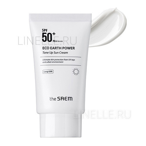 Eco earth power tone up sun cream spf50  [Солнцезащитный крем]