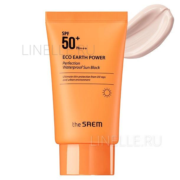 Eco earth power perfection waterproof sun block spf50  pa [Солнцезащитный водостойкий крем]