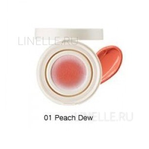 Eco soul bounce cream blusher 01 peach dew [Кремовые румяна]
