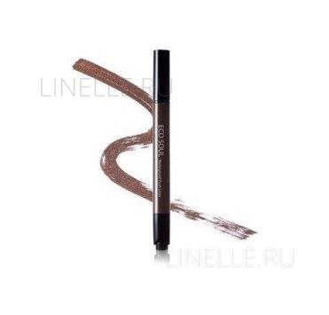 Eco soul waterproof push liner 02 twinkle brown [Подводка для глаз водостойкая автоматическая]