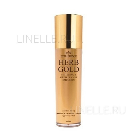 Estheroce herb gold whitening & wrinkle care emulsion [Эмульсия для лица омолаживающая]