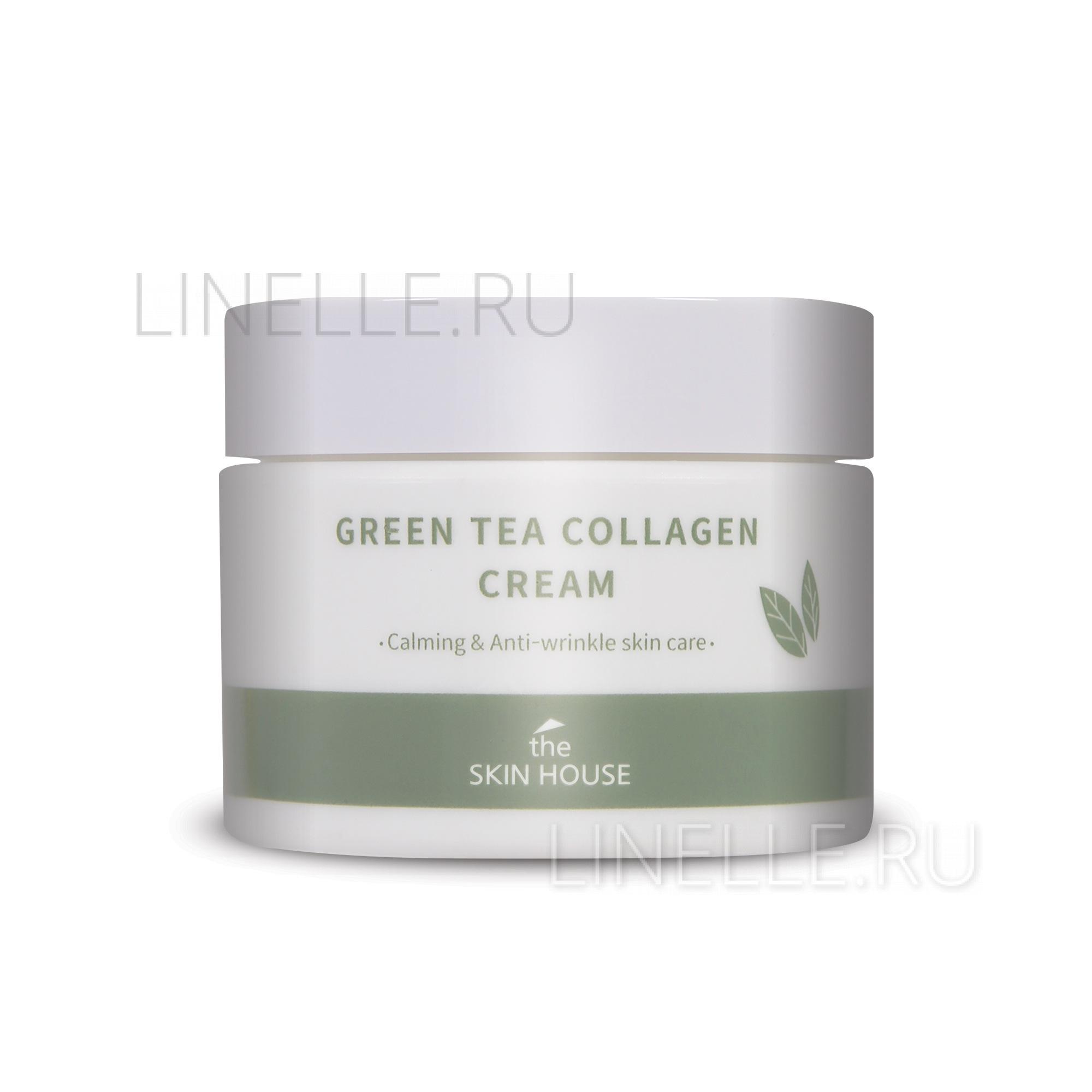 Green tea collagen cream [Успокаивающий крем на основе коллагена и экстракта зелёного чая]