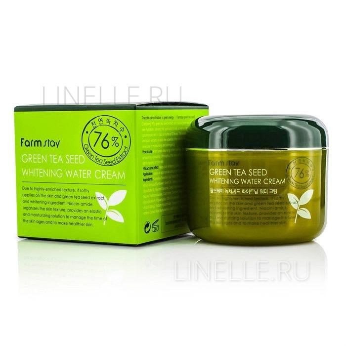 Green tea seed whitening water cream [Увлажняющий осветляющий крем для лица]
