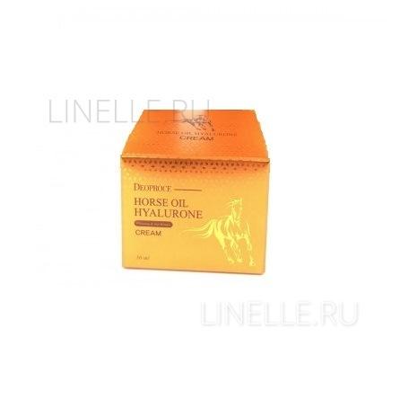 Horse oil hyalurone cream [Крем для лица с гиалуроновой кислотой и лошадиным жиром]