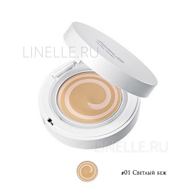 """Luminous silk whitening cream foundation #01 [Кремовое компактное средство """"Сияющий шелк"""" оттенок 01]"""