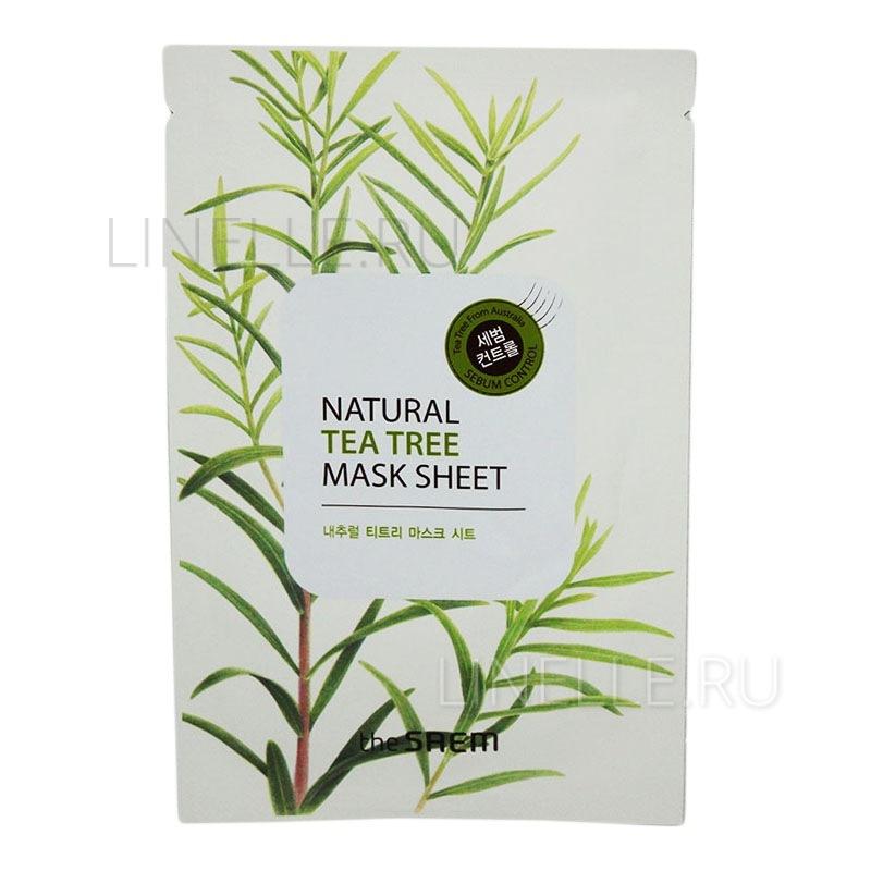 Natural tea tree mask sheet [Маска тканевая с экстрактом чайного дерева]