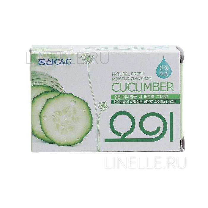New cucumber soap [Мыло туалетное огуречное]