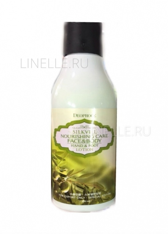 DEOPROCE Silkvill nourishing care face & body hand & foot lotion