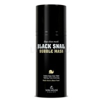Black snail bubble mask [Черная кислородная маска с муцином]