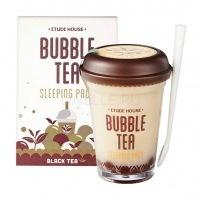 Bubble tea sleeping pack black tea [Маска ночная для лица с экстрактом черного чая]