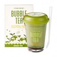 Bubble tea sleeping pack green tea [Маска ночная для лица с экстрактом зеленого чая]