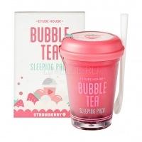 Bubble tea sleeping pack strawberry [Маска ночная для лица с экстрактом клубники]