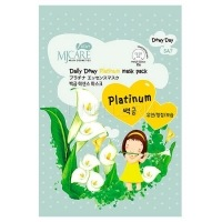 Care daily dewy platinum mask pack [Маска тканевая с платиной]