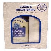 Clean & brightening collagen cleansing water [Вода очищающая с коллагеном ]