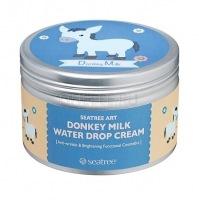 Donkey milk water drop cream (design 4) [Крем для лица с молочными протеинами ]
