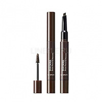 Eco soul brow pencil & mascara 03 dark brown [Тушь- карандаш для бровей]