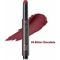 Eco soul kiss button lips matte 06 bitter chocolate [Помада для губ матовая 06]