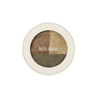 Eco soul triple dome shadow kh01 deeply moved khaki [Тени для век тройные]