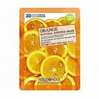Foodaholic orange natural essence 3d mask [Тканевая 3D маска с экстрактом апельсина для сужения пор]