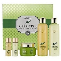 Green tea total solution 3 set new [Набор для лица уходовый]
