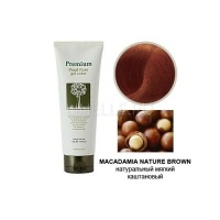 Haken premium pearll pure gel color-macadamia nature brown [Маникюр для волос (натурально-коричневый)]