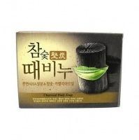Hardwood charcoal scrub soap [Мыло-скраб древесный уголь]