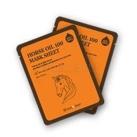 Horse oil 100 mask sheet [Маска для лица тканевая увлажняющая с лошадиным жиром]