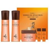 Horse oil hyalurone skin care 3 set [Набор уходовый с гиалуроновой кислотой и лошадиным жиром]
