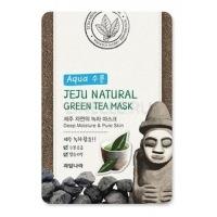 Jeju nature's green tea mask [Маска для лица успокаивающая]