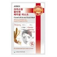 Junico crystal all-in-one facial mask red ginseng [Маска тканевая c красным женьшенем]
