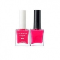 Kiss & blush lacquer & kissholic nails pk03 [Набор лак для ногтей + блеск для губ и румяна]