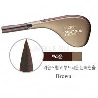 L'cret shot gun eyeliner 02 brown [Подводка для глаз]