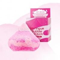 Meringue bubble bath bomb (lavender sleep) [Пенная бомбочка для ванны]
