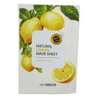 Natural lemon mask sheet [Маска тканевая с экстрактом лимона]
