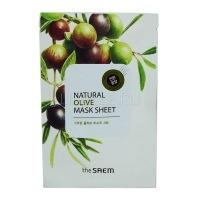 Natural olive mask sheet [Маска тканевая с экстрактом оливы]
