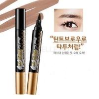 Oops dual tint brow 01 dark brown [Тинт для бровей двухсторонний]