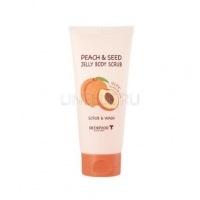 Peach & seed jelly body scrub [Гелевый скраб для тела с экстрактом персика]