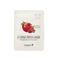 Pomegranate collagen v-zone patch mask  [Укрепляющая маска для зоны подбородка]
