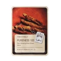 Pureness 100 red ginseng mask sheet [Тканевая маска с экстрактом красного женьшеня ]