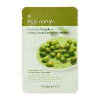 Real nature mask sheet mung bean [Маска для лица тканевая]