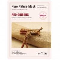 Secriss pure nature mask pack- red ginseng [Маска для лица тканевая ]