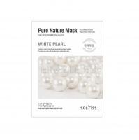 Secriss pure nature mask pack- white pearl [Маска для лица тканевая ]